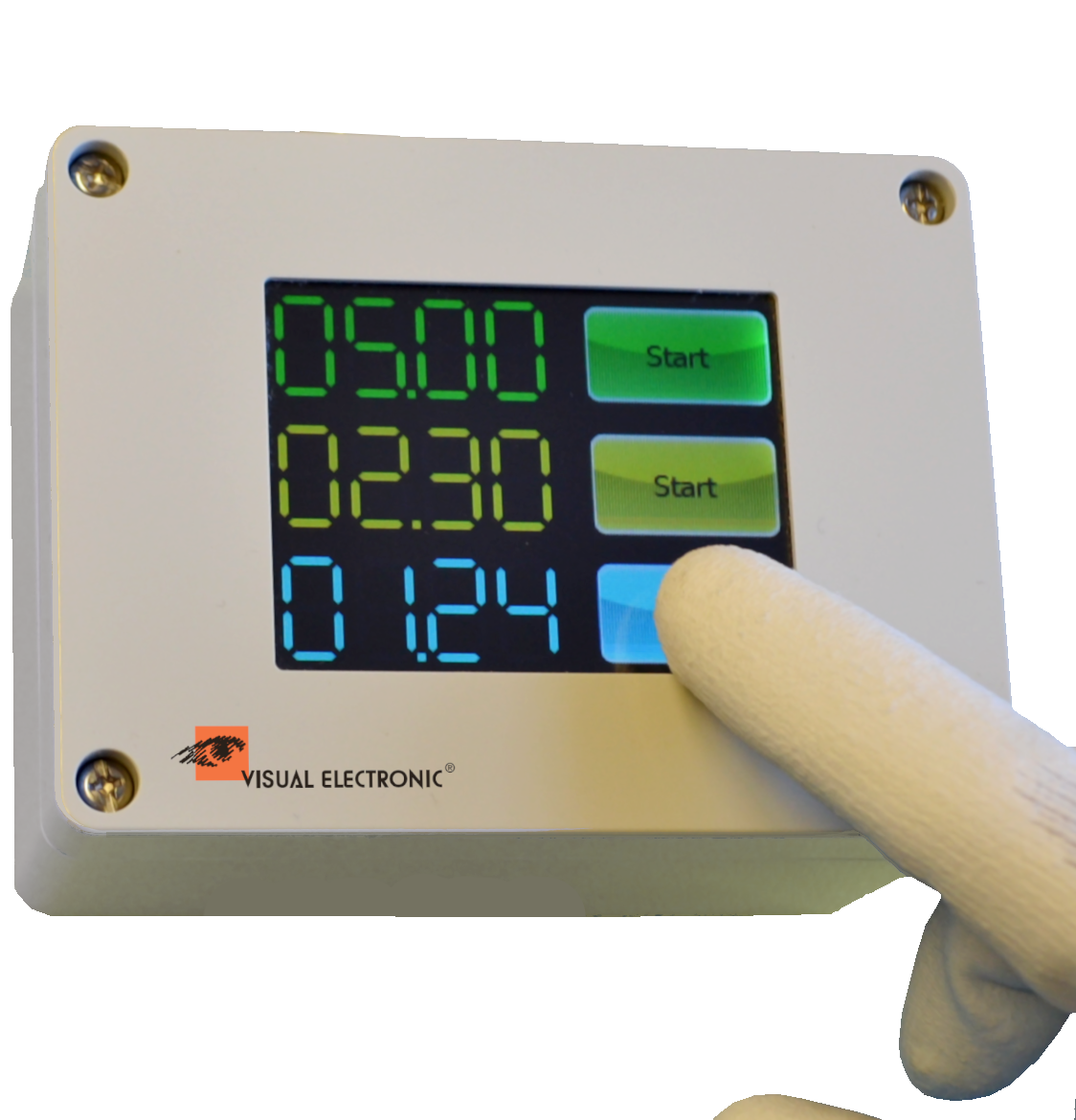 Control panel, medical technology, timer