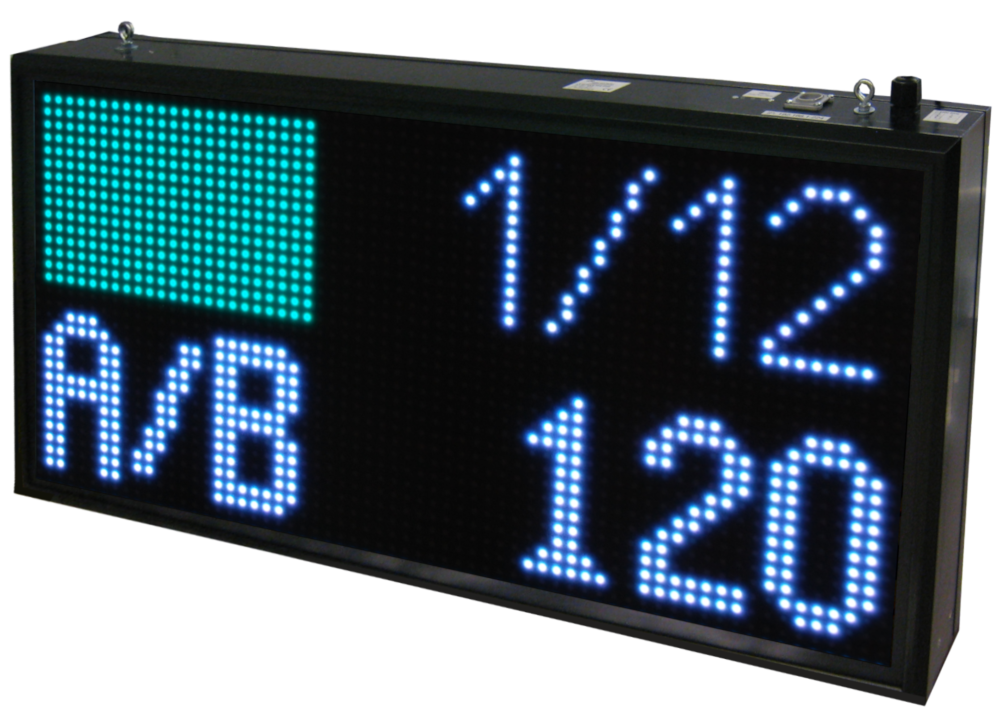 LED Display, archery, character height 13 cm, reading distance up to 64 meters, outdoor