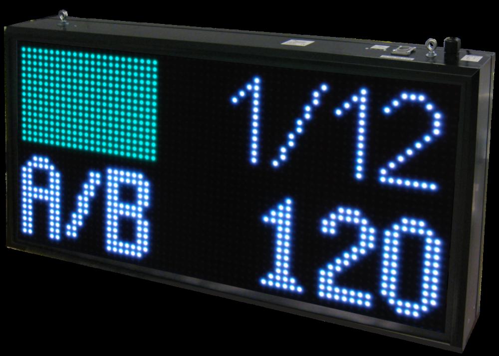 LED Anzeige, Bogensport, Zeichenhöhe 13 cm, Leseentfernung bis 65 m, Outdoor