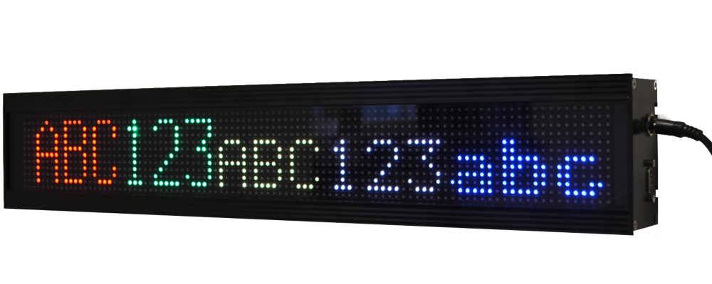 LED display for reception center, character height 6 cm, USB / RS232 / Ethernet