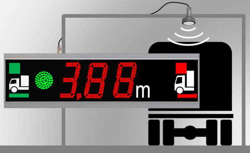 Höhenmessgerät: LED-Anzeige inkl. Sensor, Zeichenhöhe 10 cm