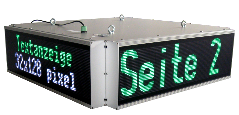 LED display QUATTRO, readable from 4 sides, reading distance (per side) up to 80 meters, 16 LED colors
