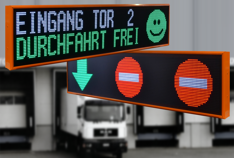 Outdoor LED displays for truck control systems, Ethernet, dimensions 1.680x400x100 mm