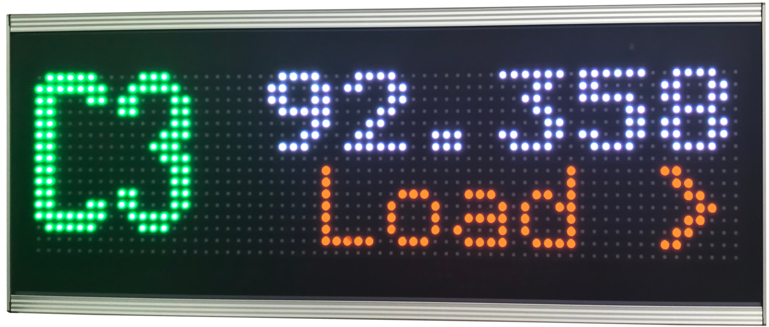 Maschinenüberwachungsanzeige, LED Matrix Display 16 x 64 LEDs, Pixelabstand 10 mm