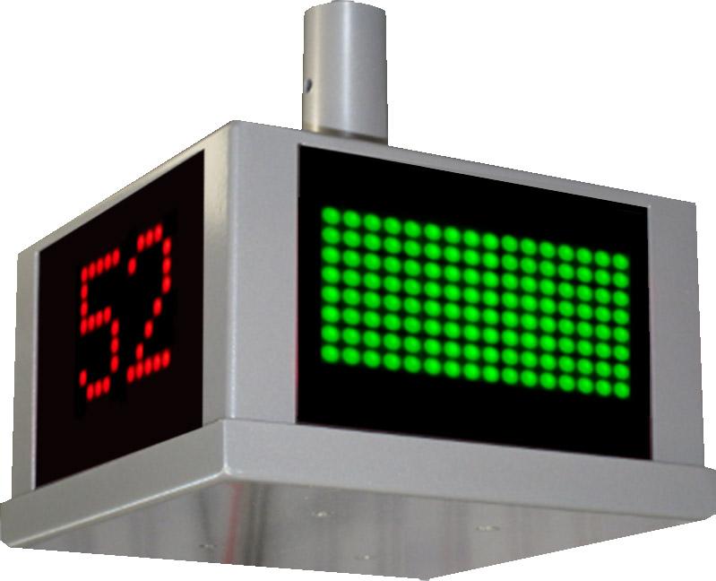 LED-Anzeige, Reinraum Türöffnungsanzeige Schleuse, 4-seitig lesbar