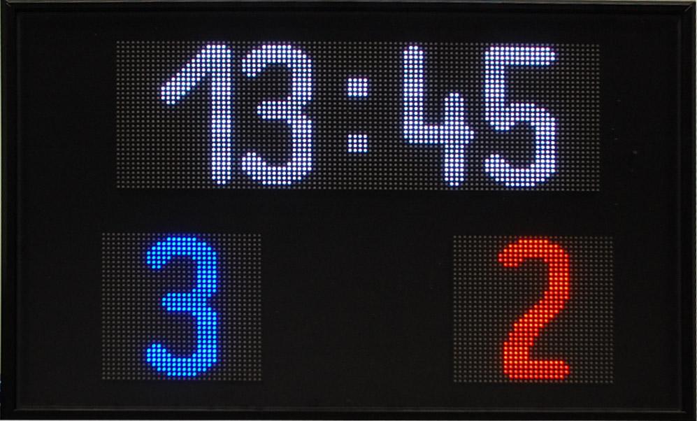 LED Fußballanzeige, Zeichenhöhe 180 mm, Indoor, Ansteuerung Funk/Bluetooth
