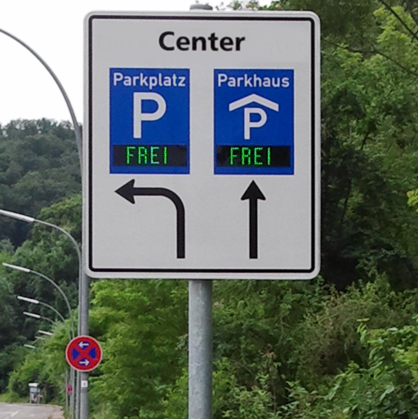 Parkplatzanzeigen, Frei/Besetzt, Outdoor, zweifarbig, Einbaugehäuse