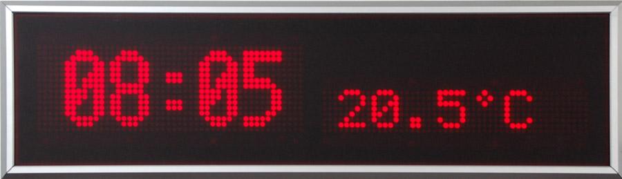 LED Uhr / Temperaturanzeige, Zeichenhöhe 60/120 mm, Indoor