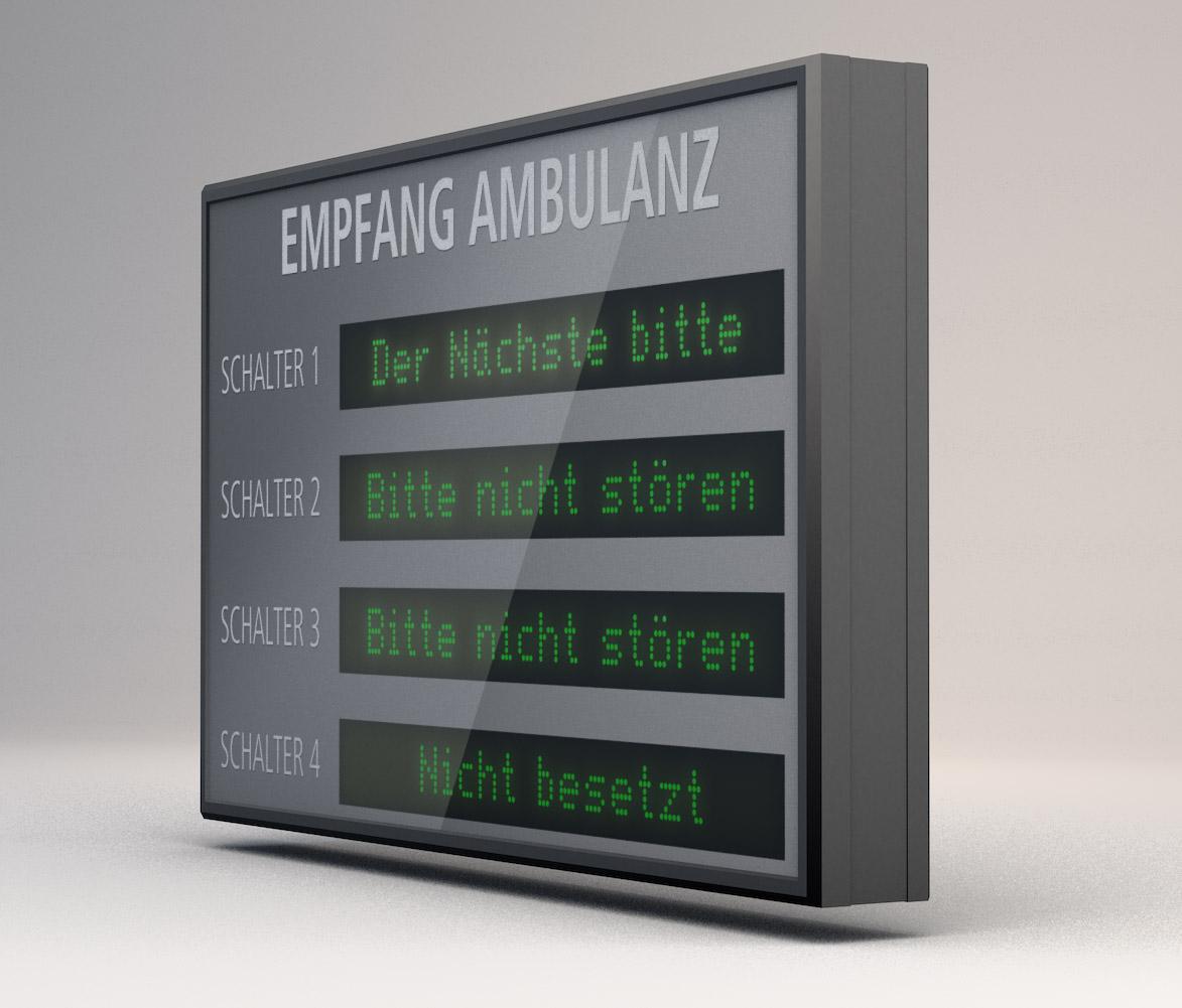 Alphanumerische LED Anzeige, LED grün, Indoor, Zeichenhöhe 40 mm