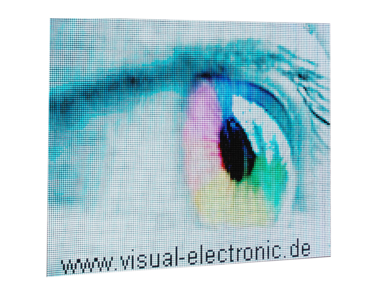 Videofähige LED-Matrix-Anzeige, Messestand, RGB, LED Matrix 128x160 Pixel, Pixel Pitch 6mm, Abmessungen 768x960 mm