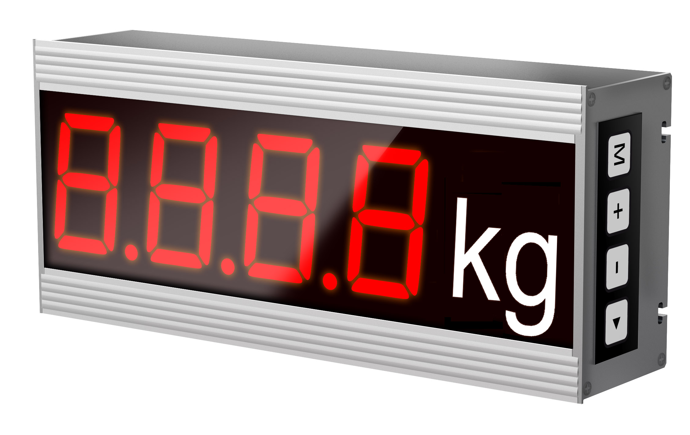 Installation display temperature, character height 60 mm, 4 characters, IP54