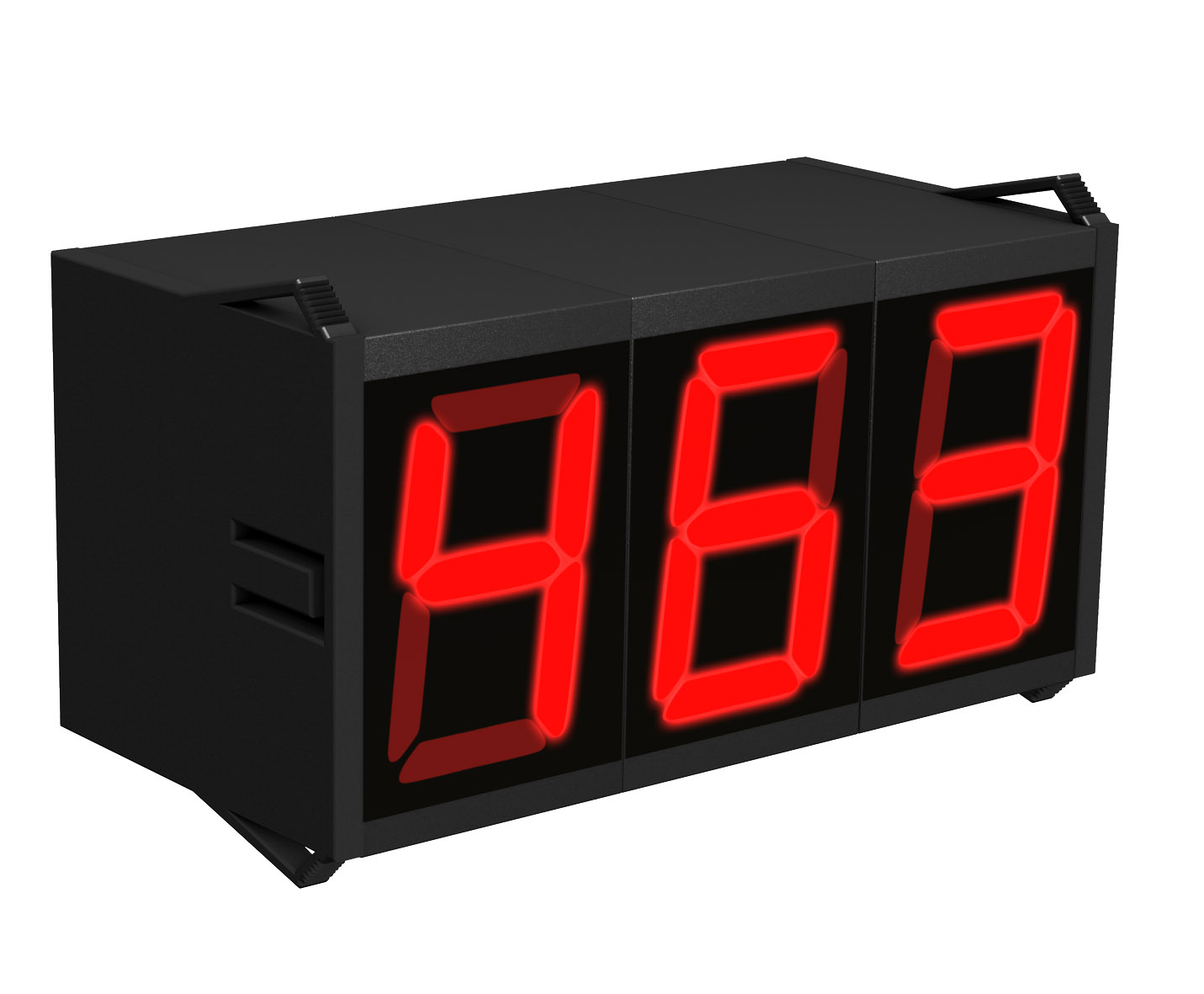 Modular 7-segment small display, character height: 8 to 20 mm, data format: BCD/hexadecimal